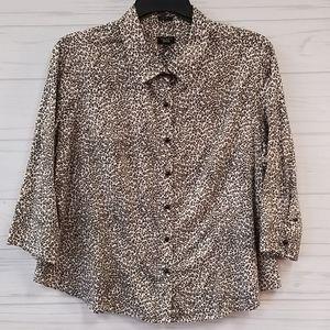 Talbots Cheetah shirt Size 22wp